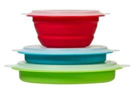 Prepworks Collapsible Prep/Storage Bowls with Lids