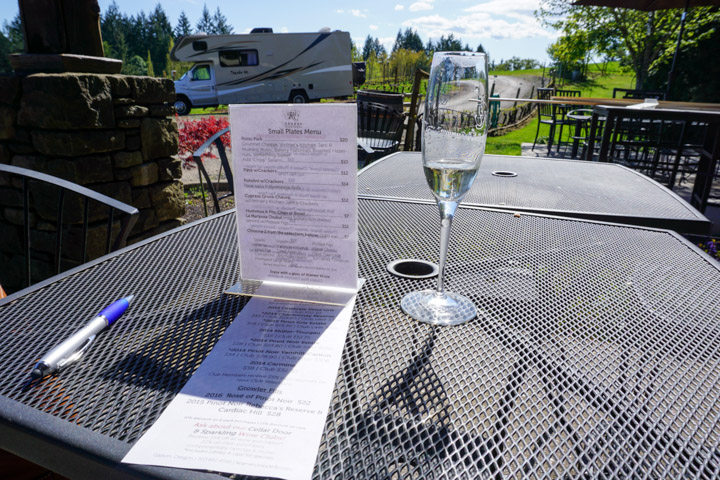 Kramer Vineyards Menu