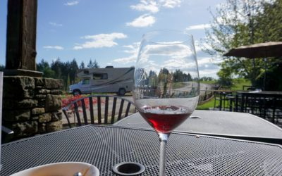 RV Boondocking at Vineyards in Oregon