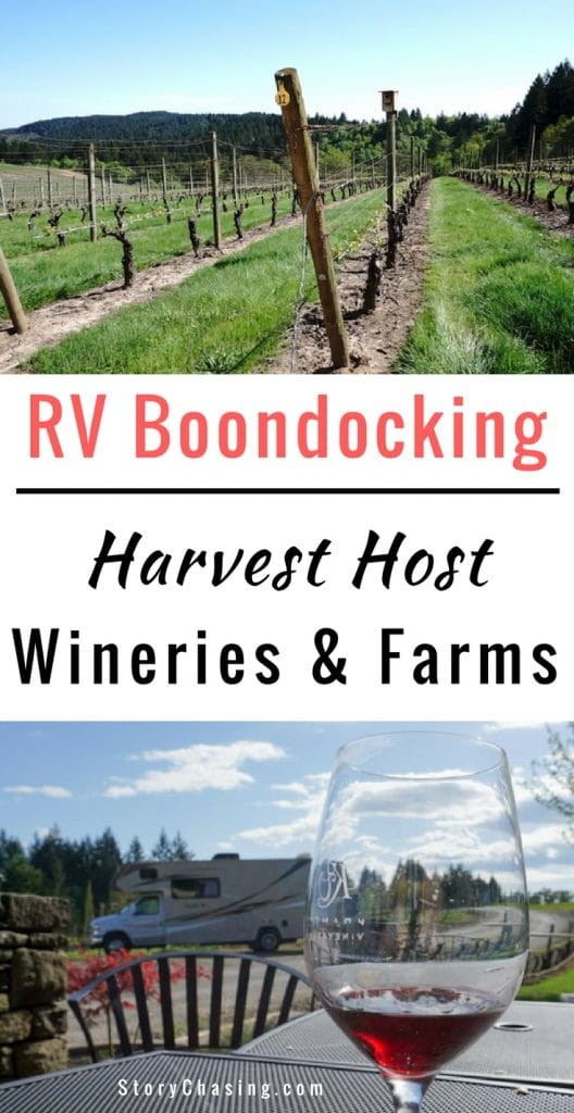 RV Boondocking Wineries and Farms with Harvest Host