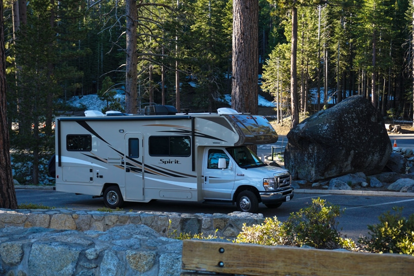 RV at Lake Tahoe