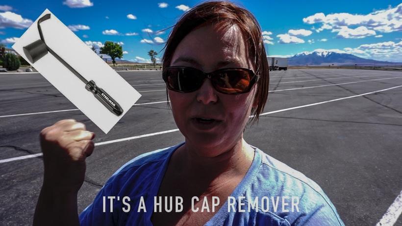 Hub cap remover