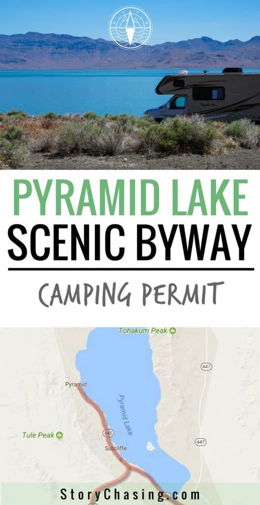 Pyramid Lake Camping Permit and Scenic Byway