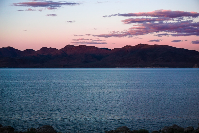 Pyramid Lake Sunset