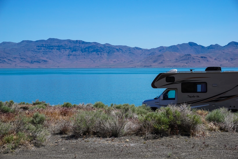 RV at Pyramid Lake