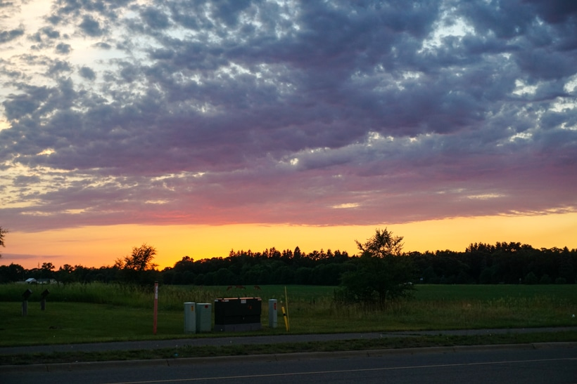 Detroit Lakes Walmart Sunset