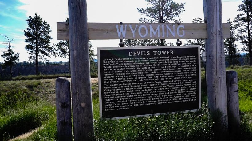 Devils Tower Sign