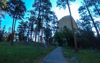 Hiking Devils Tower Close Encounter of Gratitude