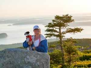 Cadillac Mountain Sunrise Amber and Lily