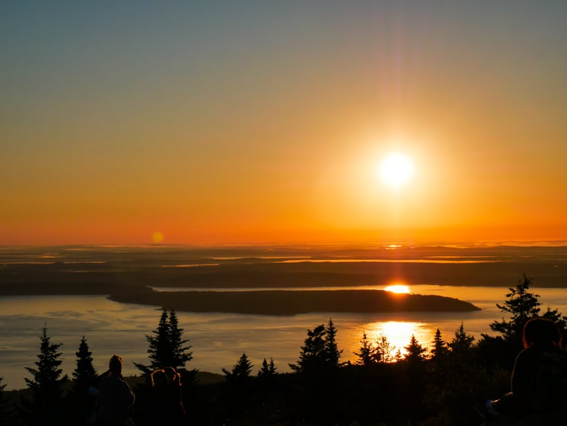 Cadillac Mountain Sunrise Peaked acadia