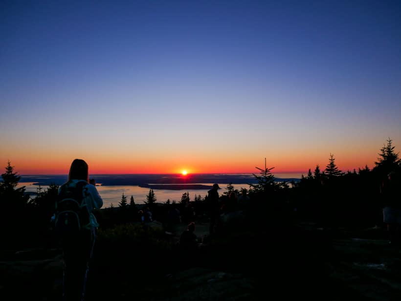 Cadillac Mountain Sunrise Peaking