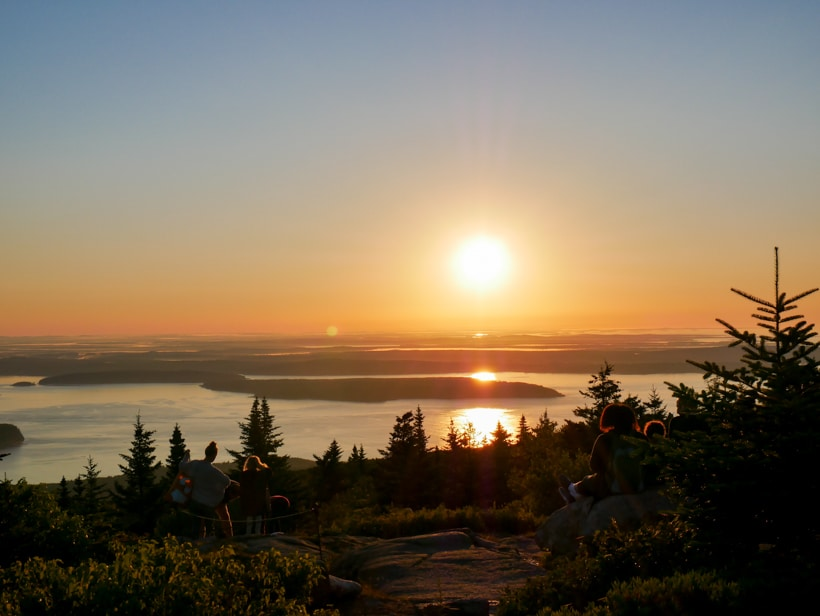 Cadillac Mountain Sunrise over acadia