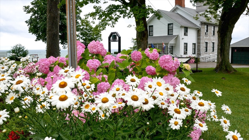 Sodus Bay Lighthouse Flowers