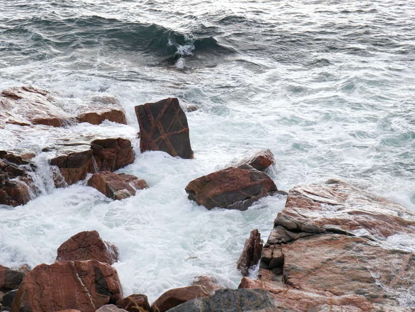 Cabot Trail Ocean Against Rocks 3