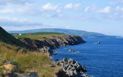 Traveling Cabot Trail around Cape Breton Island Nova Scotia