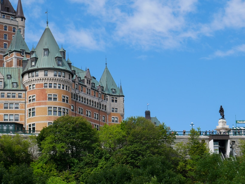 FAIRMONT LE CHÂTEAU FRONTENAC from ferry 7