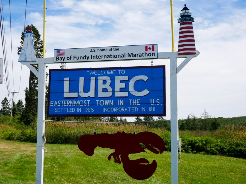 Lubec Easternmost Point Sign