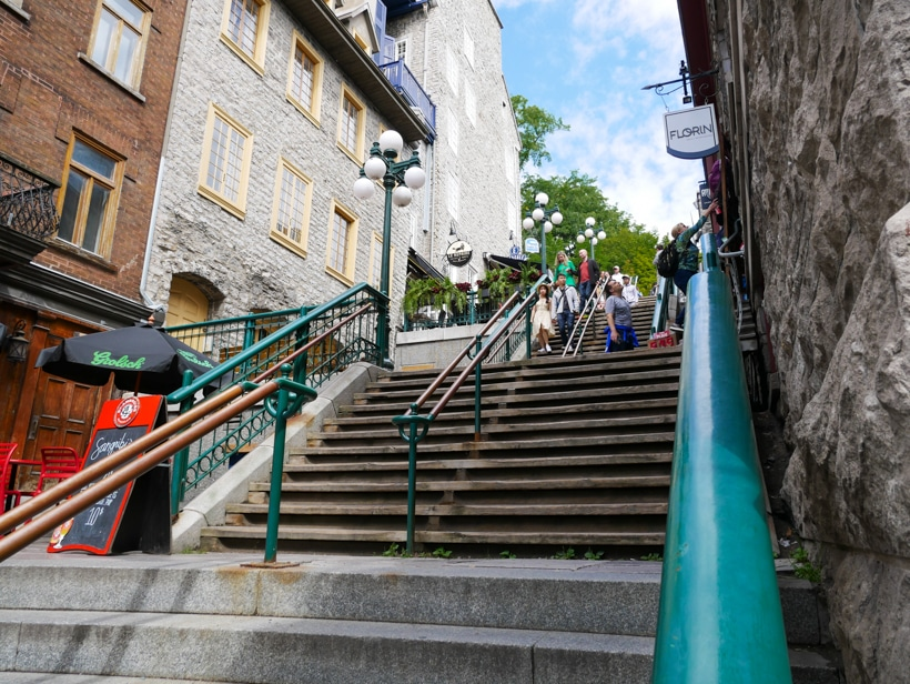 Quartier Petit Champlain Stairs to Shopping