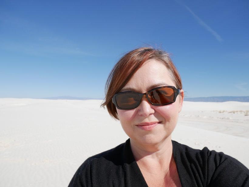Amber at White Sand Dunes