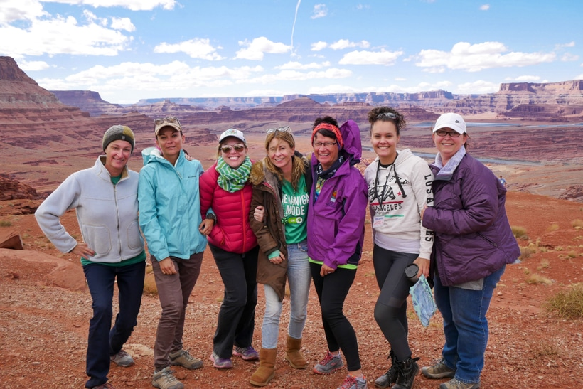 Solo women RVers Moab