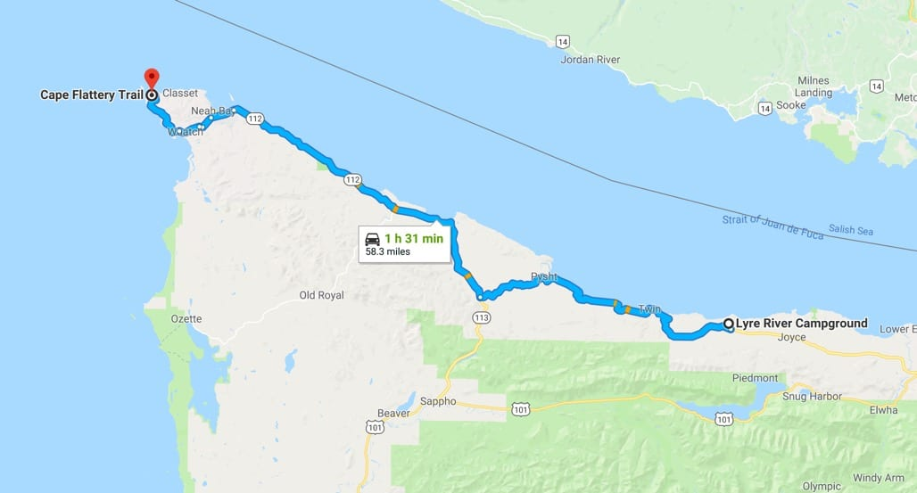 Lyre River Campground to Neah Bay