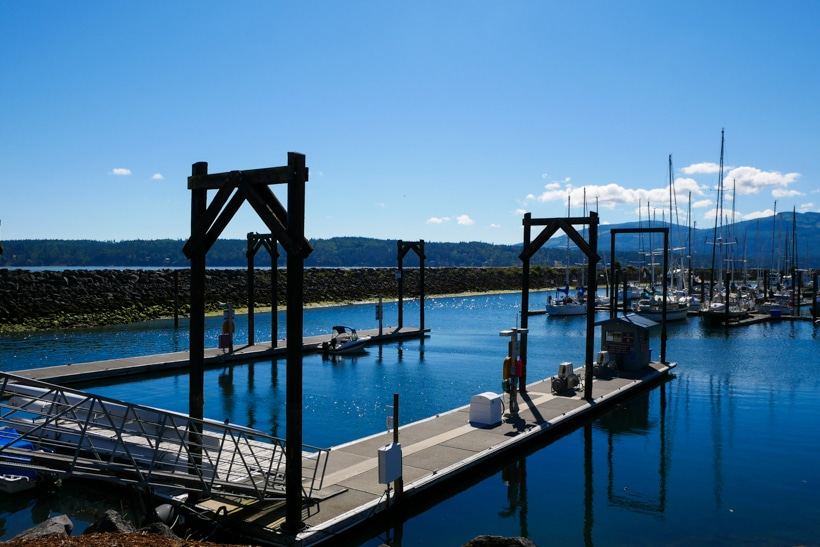 Sequim Bay Marina Mountains