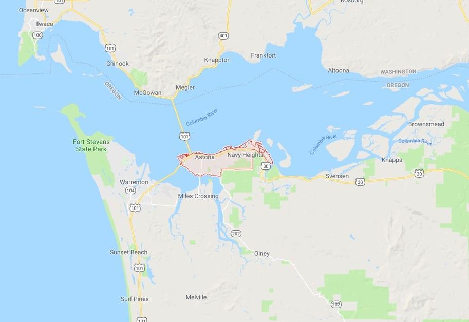 Astoria Oregon Map