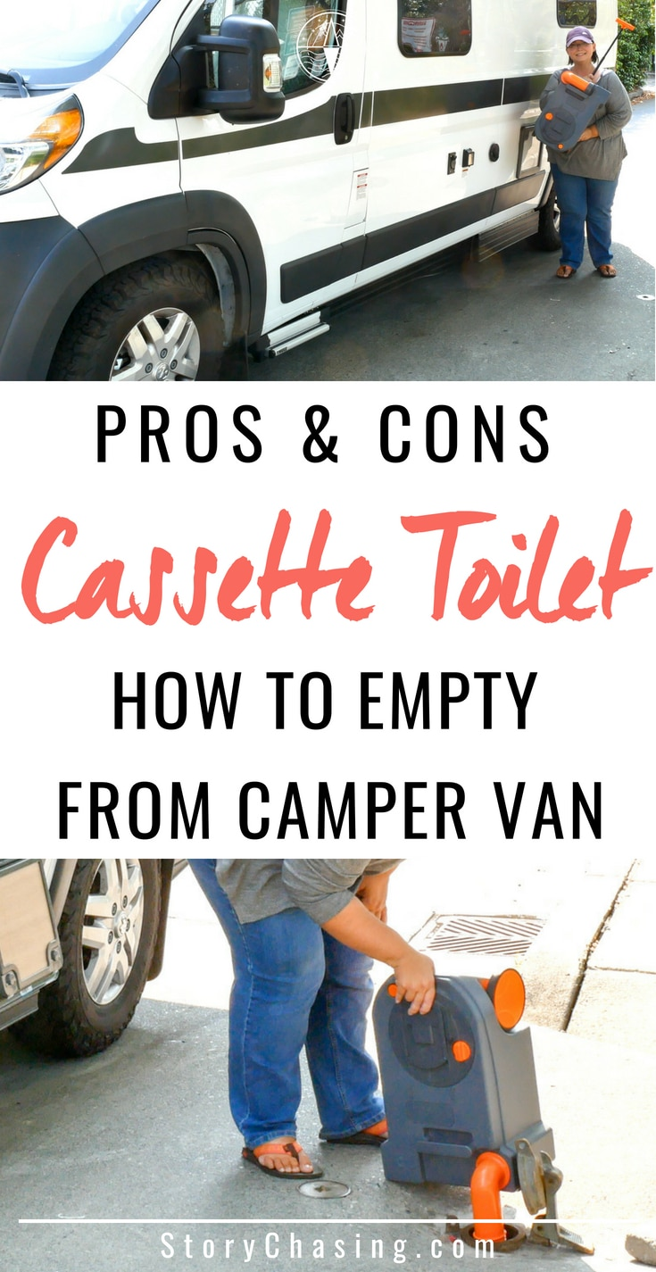 Cassette Toilet Emptying in Camper Van