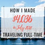 How I Made $4036 Online Traveling Full Time