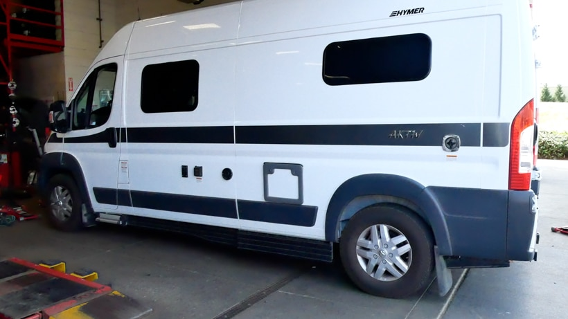 Hymer with All Weather Tires