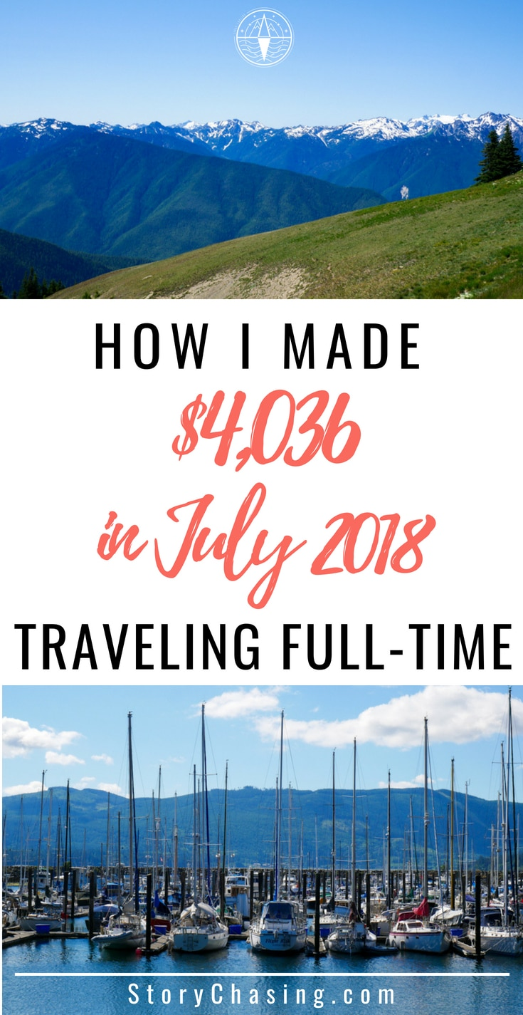 July 2018 Income Report Traveling Full Time