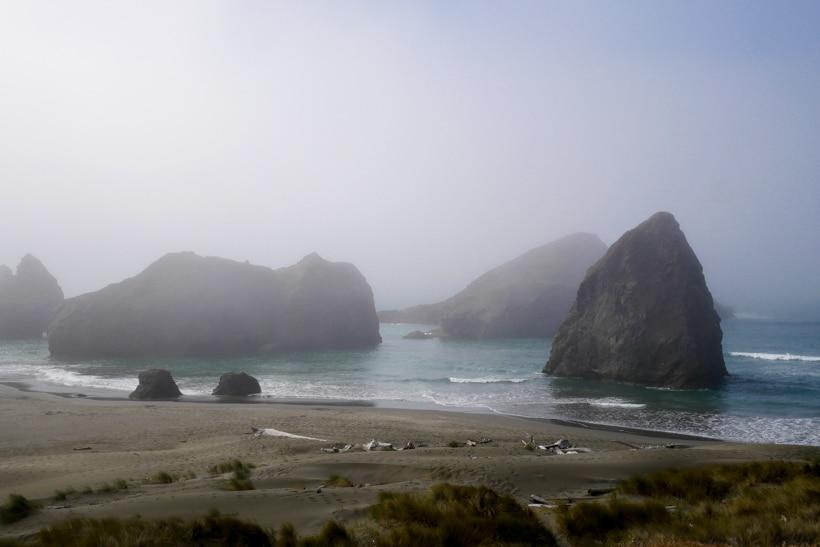 Southern Oregon Haystack Rocks Fog