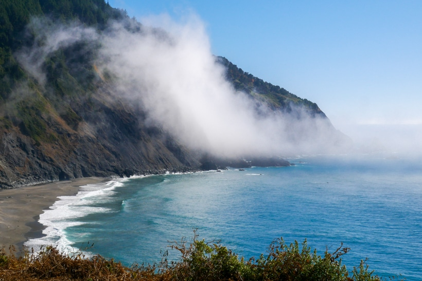 Southern Oregon Coast fog off of water