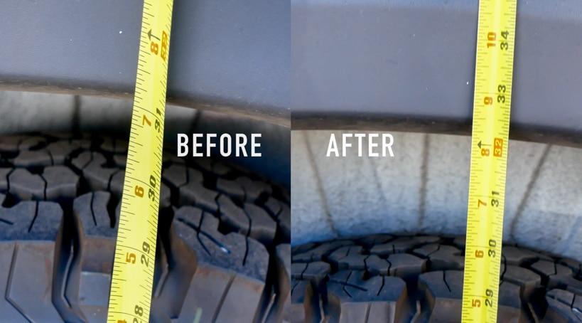 SumoSprings Installation Before & After on Hymer Aktiv Van