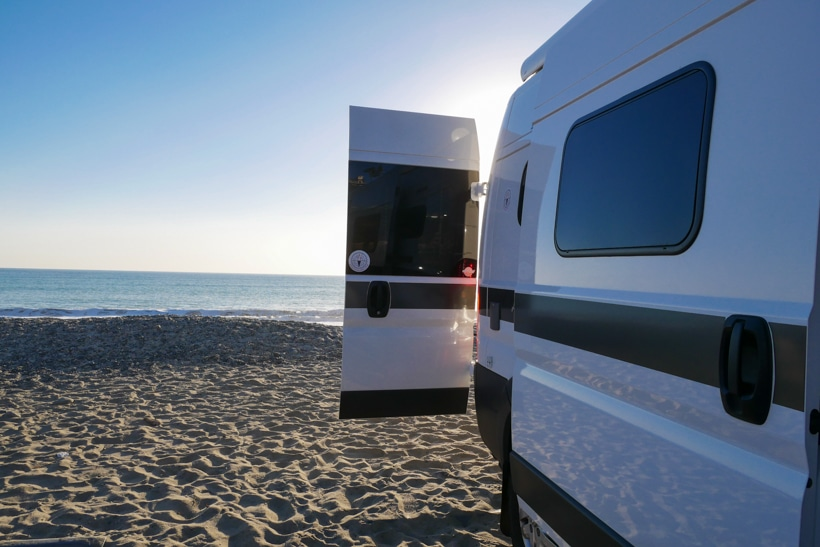 Hymer Aktiv Back Doors Open 3