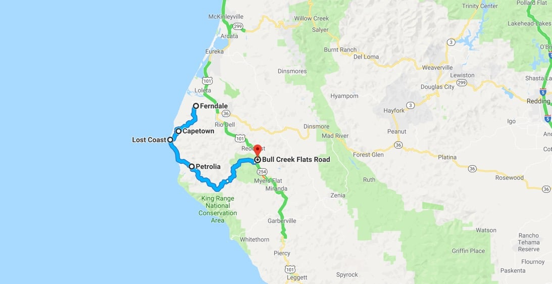 Lost Coast Trail Map